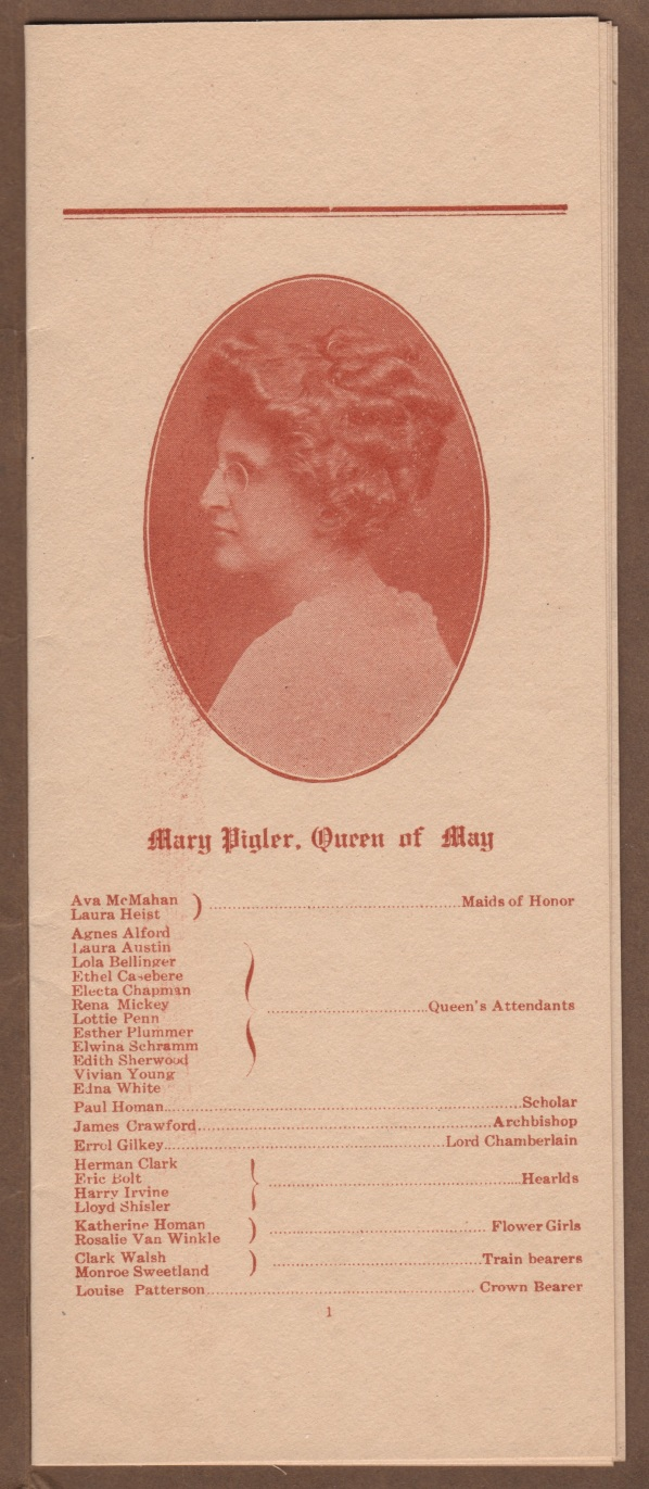 mary pigler queen of may