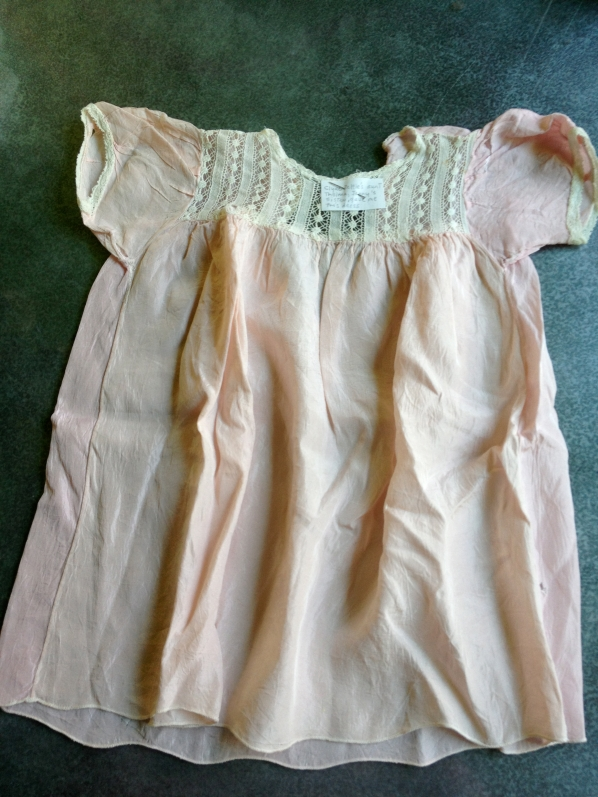 5. pink 'silk' with lace dress
