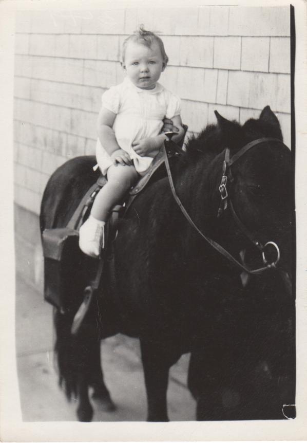 horseback at 15 months