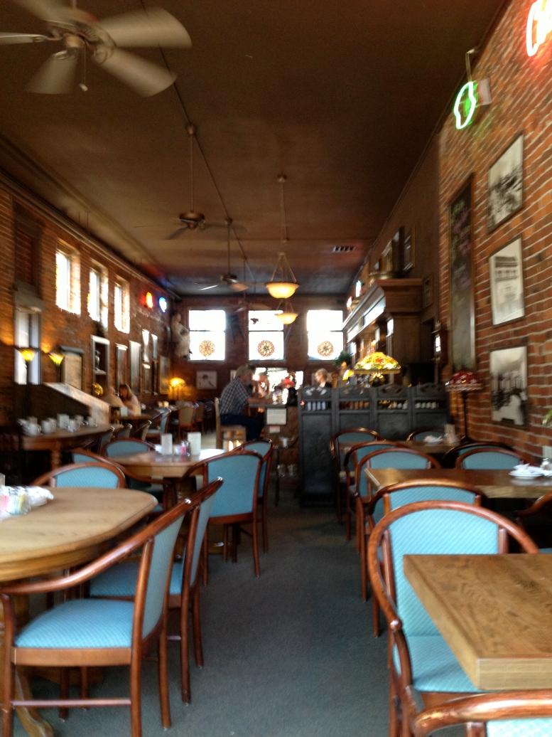 inside vintage cafe