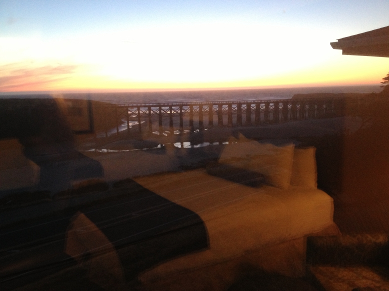 trestle & beach out the window