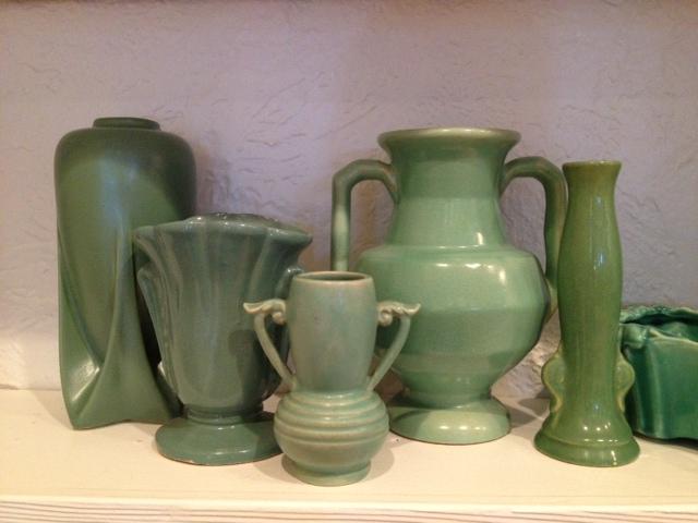 miniature green vase:valerie ferguson