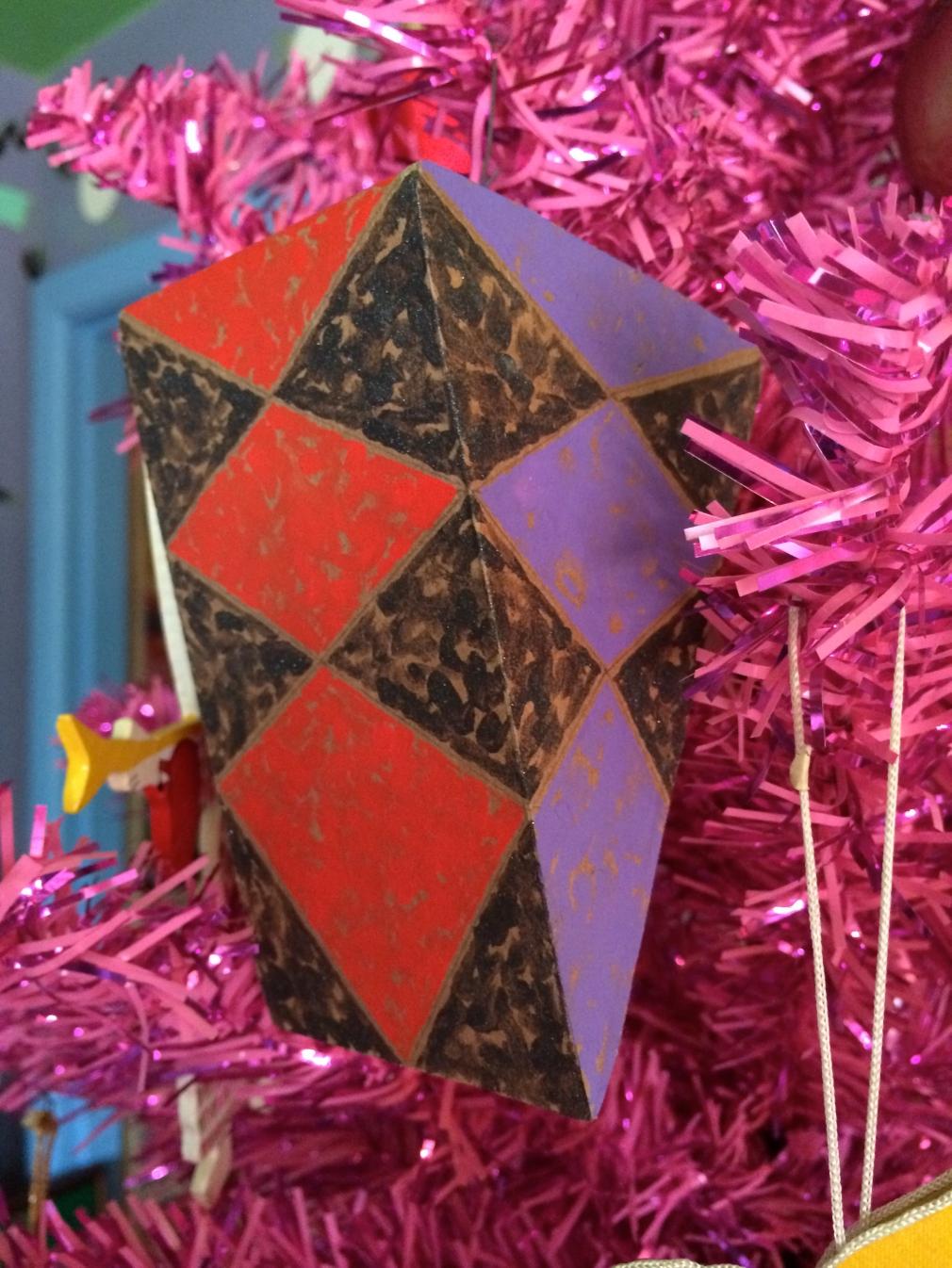 cardboard ornament